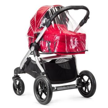 Дождевик Baby Jogger для люльки City Selectдля люльки City SelectСиликоновый дождевик надевается на люльку поверх капюшона, надежно защищает ребенка от снега, дождя и сильного ветра в непогоду.  Характеристики: предназначен для люльки коляски Baby Jogger City Select просто крепится не запотевает<br>
