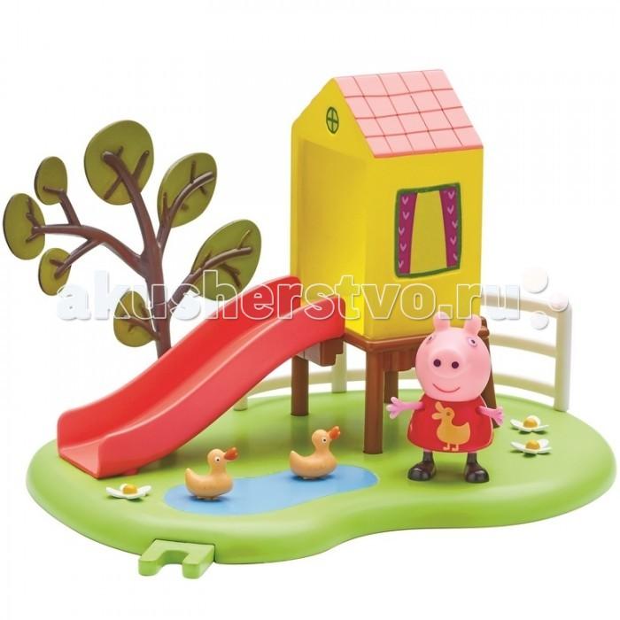 Игровые наборы Свинка Пеппа (Peppa Pig) Игровой набор Площадка Домик с горкой peppa pig игровой набор пеппа и друзья 24312 6 фигурок