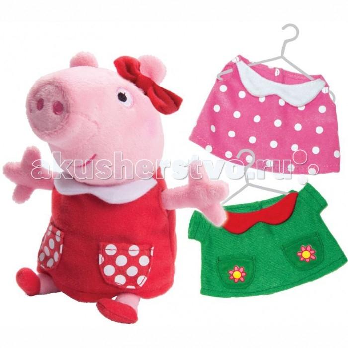 Мягкие игрушки Свинка Пеппа (Peppa Pig) Пеппа модница 20 см мягкая игрушка peppa pig джордж с машинкой свинка розовый текстиль 18 см 29620