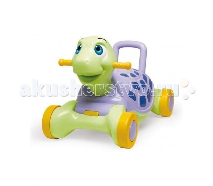 Каталка Chicos качалка Счастливая черепашкакачалка Счастливая черепашкаКаталка - качалка Счастливая черепашка - это чудесная игрушка, которая заменит вам сразу три!  Когда ребенок начнет ходить, Черепашка будет замечательными ходунками. Благодаря широкому сидению и спинке, каталку можно использовать с самого раннего возраста. Вашему малышу не может не понравится качаться на такой милой черепашке. Как каталка Черепашка будет Вам служить ни один год, поскольку допустимый вес до 30 кг.  Малышу будет чем заняться, а родителям время отдохнуть!  Размер каталки: 58,5 x 33,5 x 37 см Размер упаковки: 60 x 34 x 37 см<br>