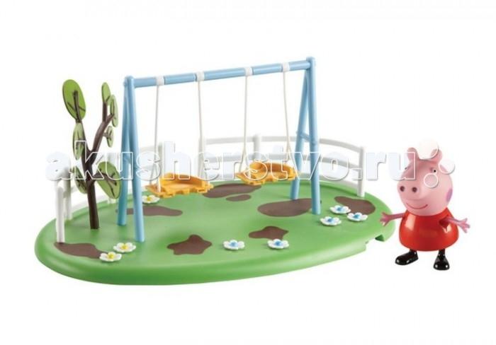 Игровые наборы Свинка Пеппа (Peppa Pig) Игровой набор Площадка Качели 31608 peppa pig игровой набор пеппа и друзья 24312 6 фигурок
