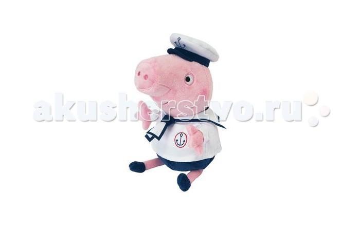 Мягкие игрушки Свинка Пеппа (Peppa Pig) Джордж моряк озвученный peppa pig мягкая игрушка джордж с динозавром 40см