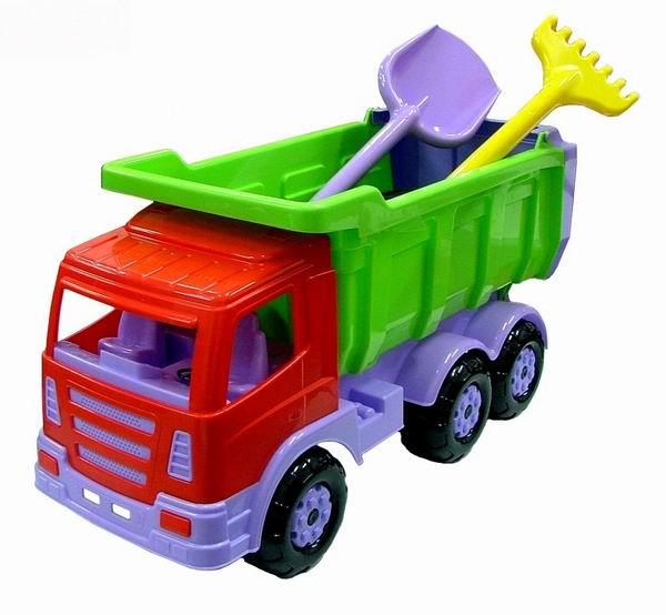 Wader Автомобиль-самосвал Премиум с лопатой и граблями
