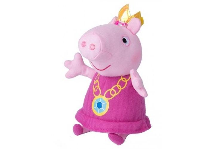 Мягкие игрушки Свинка Пеппа (Peppa Pig) Пеппа-принцесса 20 см 31151 мягкая игрушка peppa pig джордж с машинкой свинка розовый текстиль 18 см 29620