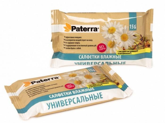 Салфетки Paterra Влажные салфетки с экстрактом ромашки и витамином Е 15 шт. салфетки paterra влажные салфетки с экстрактом ромашки и витамином е 64 шт