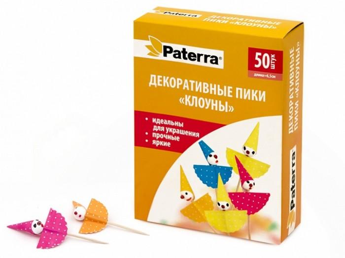 Товары для праздника Paterra Декоративные пики Клоуны 50 шт.