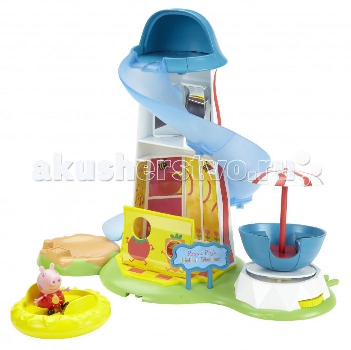 Свинка Пеппа (Peppa Pig) Игровой набор Водная горка Луна ПаркИгровой набор Водная горка Луна ПаркPeppa Pig Игровой набор Водная горка. Луна Парк.  Потрясающий игровой набор Водная горка, созданный по мотивам мультфильма Свинка Пеппа, обязательно понравится вашему малышу. Сюжетно-ролевая игра с ним надолго увлечет кроху и поможет развивать воображение, координацию движений, навыки общения и речь. А чтобы игра была интереснее, можно приобрести другие игрушки из серии Peppa Pig.  В наборе 3 предмета:  игровая площадка, высота - 29 см, длина - 33 см, ширина - 20 см  двухместная вращающаяся карусель диаметром 10 см  фигурка Свинки Пеппы высотой 5.5 см с подвижными ручками и ножками. Площадка включает:  двухэтажную башню: на первом этаже - игровая комната, на втором - комната смеха с искусственными зеркалами с водной горкой песочницу  двухместную карусель под зонтиком, приводимую в движение с помощью колесика  баннер  стенд для фотосъёмки с двумя отверстиями для лиц.  Игрушки выполнены из высококачественного безопасного пластика  Товар сертифицирован Упаковка - красочная подарочная коробка.<br>