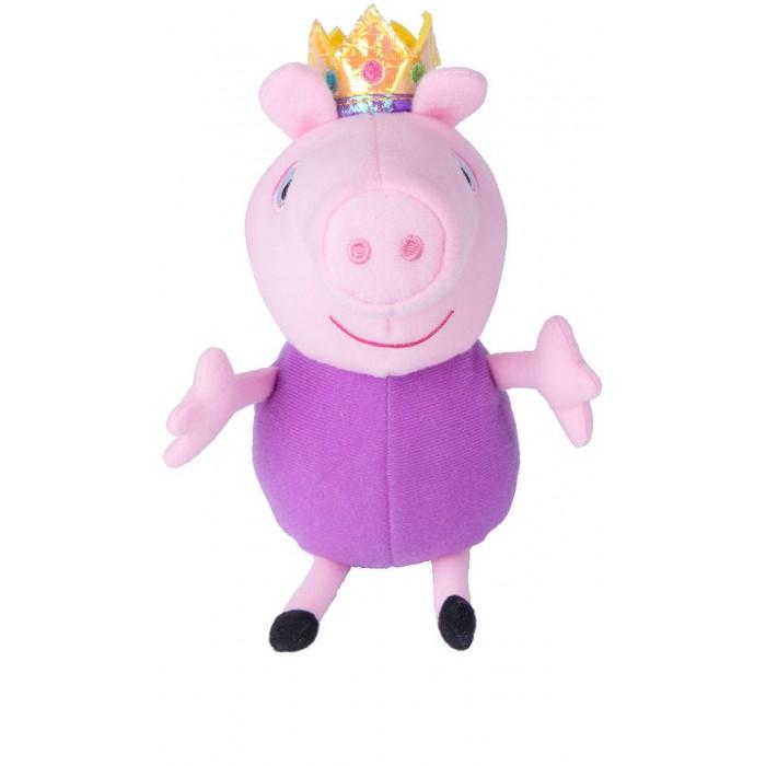 Мягкие игрушки Свинка Пеппа (Peppa Pig) Джордж принц 20 см мягкая игрушка peppa pig джордж с машинкой свинка розовый текстиль 18 см 29620