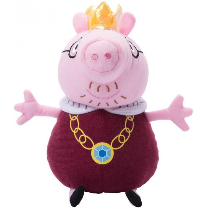 Мягкие игрушки Свинка Пеппа (Peppa Pig) Папа Свин король 30 см неваляшка папа свин peppa pig неваляшка папа свин