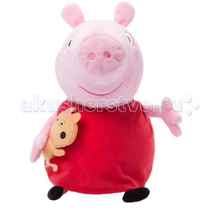 Мягкие игрушки Свинка Пеппа (Peppa Pig) Пеппа с игрушкой 40 см peppa pig мягкая игрушка джордж с динозавром 40см