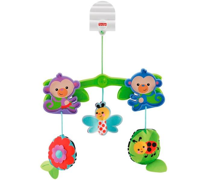 Подвесные игрушки Fisher Price Обезьянки из тропического леса к коляске fisher price fisher price мобиль 3 в 1 друзья из тропического леса