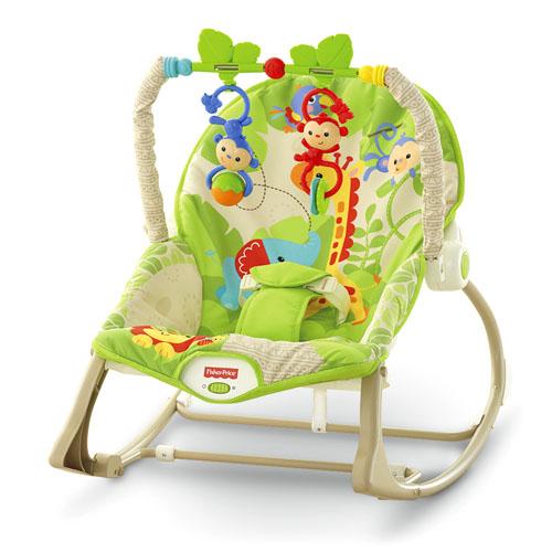 Fisher Price Кресло-качалка Веселые обезьянки
