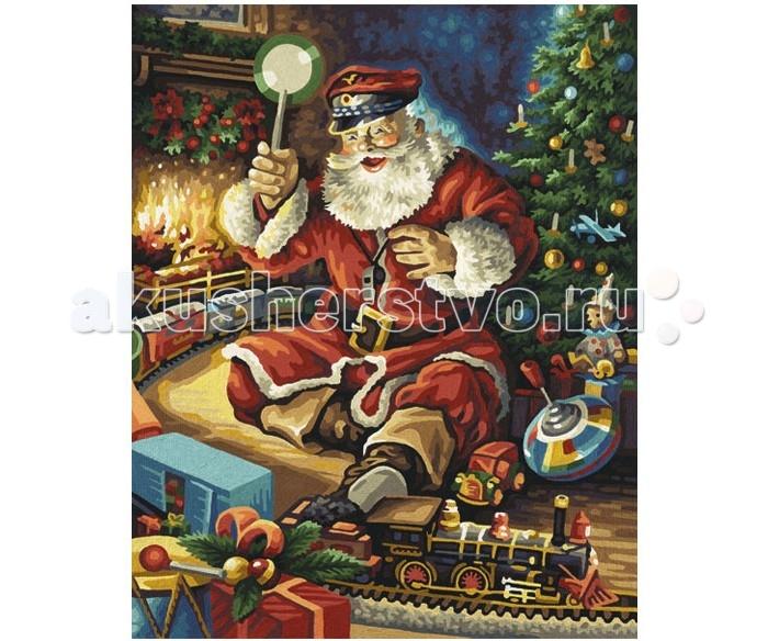 Творчество и хобби , Картины по номерам Schipper Картина по номерам Санта Клаус с железной дорогой 40х50 см арт: 260679 -  Картины по номерам
