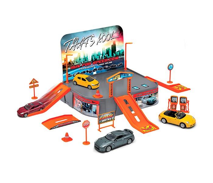 Машины Welly Игровой набор Гараж: 1 машина