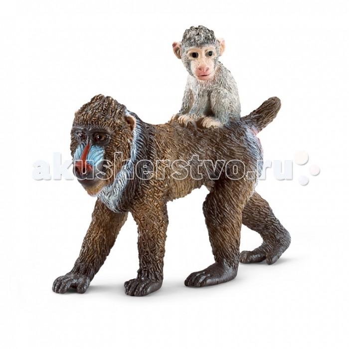 Игровые фигурки Schleich Игровая фигурка Мандрил самка с детенышем фигурки игрушки schleich жираф самка