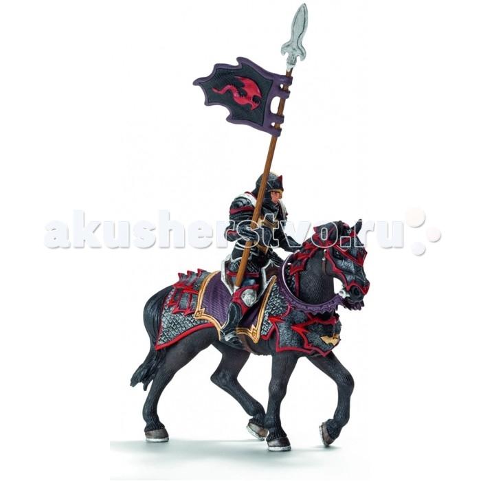Игровые фигурки Schleich Игровая фигурка Рыцарь на коне с копьем Орден Дракона военная миниатюра атакующий английский рыцарь на коне