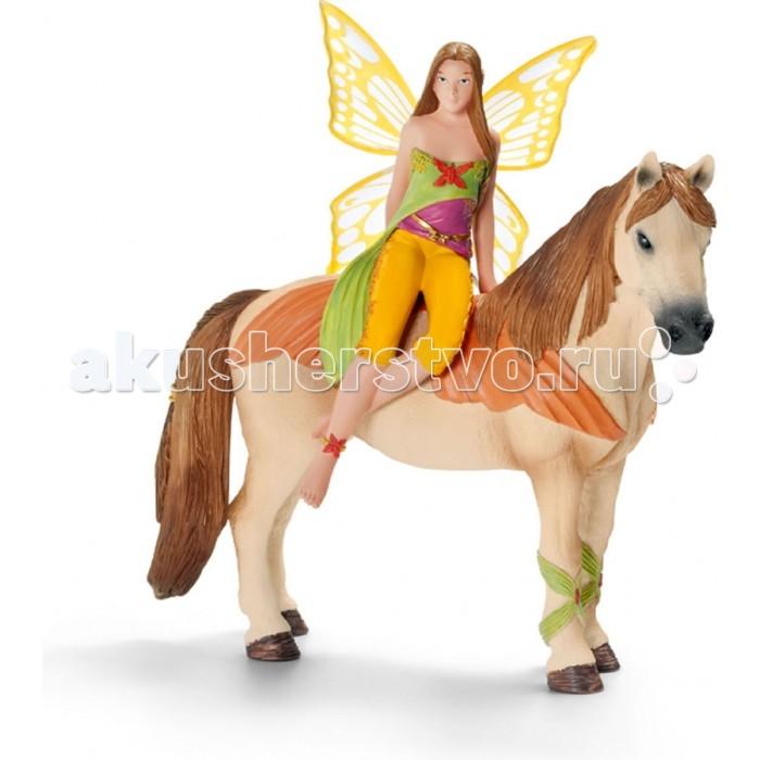 Игровые фигурки Schleich Игровая фигурка Эльф Санжела на лошади schleich эльф наяра