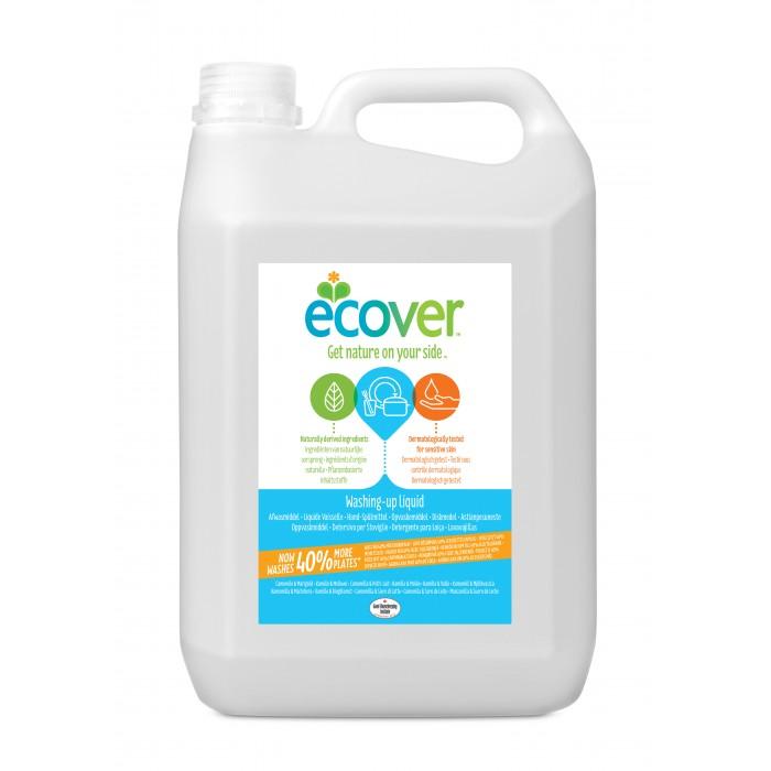 Гигиена и здоровье , Бытовая химия Ecover Экологическая жидкость для мытья посуды с ромашкой и молочной сывороткой 5 л арт: 261318 -  Бытовая химия