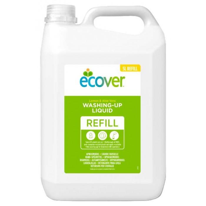Гигиена и здоровье , Бытовая химия Ecover Экологическая жидкость для мытья посуды c лимоном и алоэ-вера 5 л арт: 261327 -  Бытовая химия