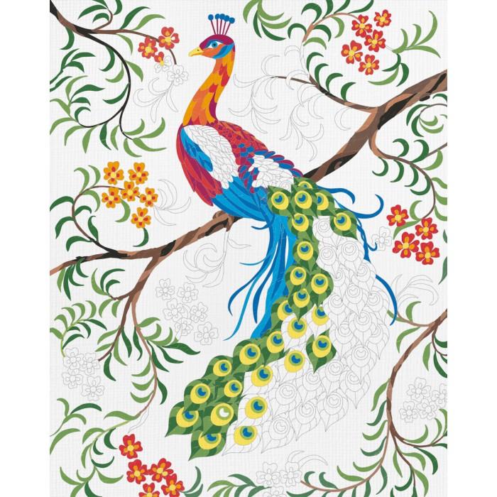 Творчество и хобби , Картины по номерам Schipper Картина по номерам Павлин 24 х 30 см арт: 261702 -  Картины по номерам