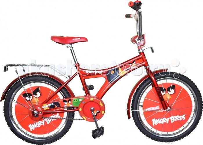 Велосипед двухколесный Navigator Angry Birds AB-1-тип 20Angry Birds AB-1-тип 20Велосипед двухколесный Navigator Angry Birds AB-1-тип 20 подарит радость вашему ребенку.   Особенности:  Однокомпонентный кареточный узел Камеры из натуральной резины Стальные обода Покрышки 20 х 2,125 Задний ножной тормоз Вставки в колесах Щиток на руле со сменными вставками Страховочные колеса с декоративной вставкой Звонок Возраст от 7 до 10 лет<br>
