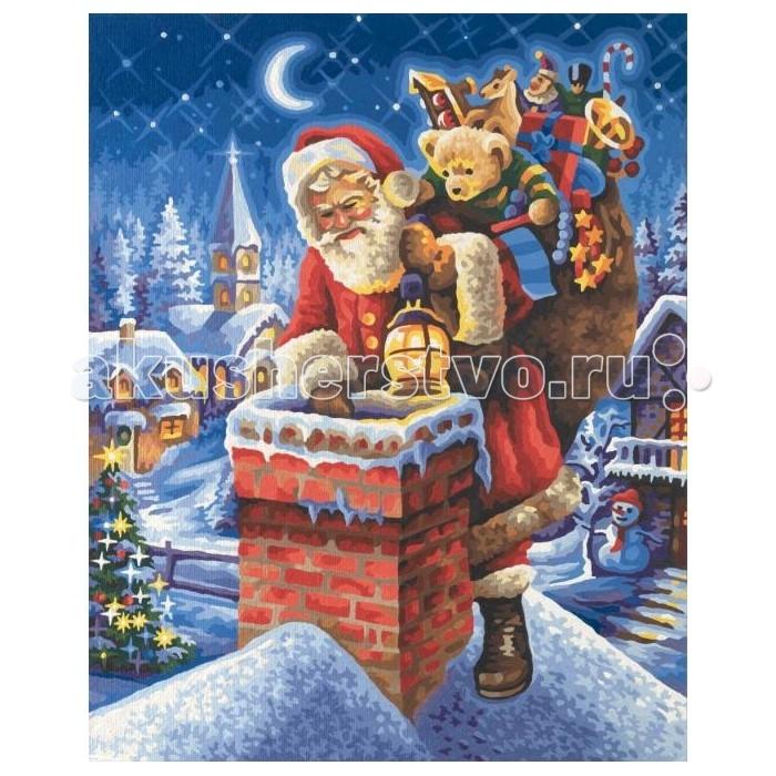 Творчество и хобби , Картины по номерам Schipper Картина по номерам Санта Клаус на крыше 40х50 см арт: 261741 -  Картины по номерам