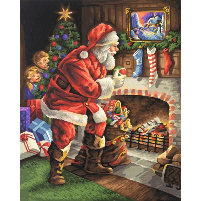 Творчество и хобби , Картины по номерам Schipper Картина по номерам Санта Клаус у камина 40х50 см арт: 261744 -  Картины по номерам