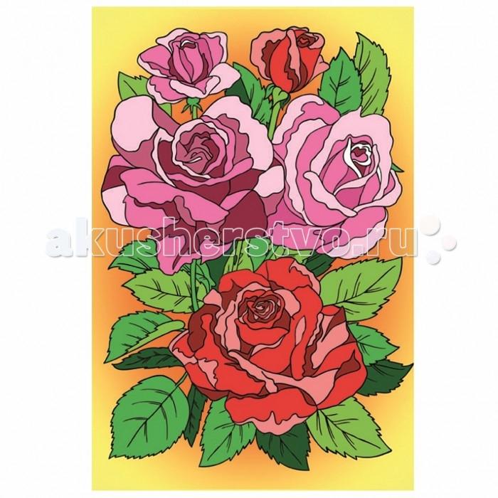 Раскраски Креатто Роспись по холсту Цветы Букет роз раскраски росмэн роспись по холсту пони