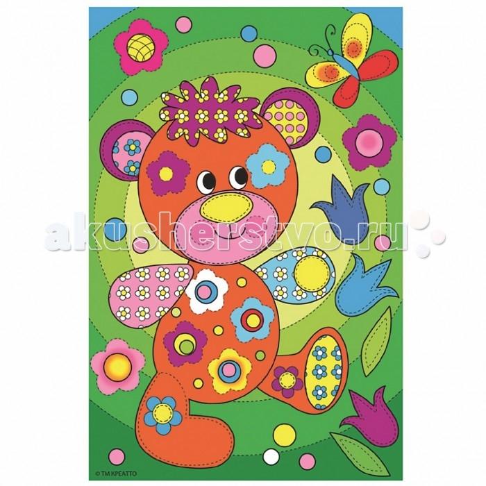 Раскраски Креатто Роспись по холсту Мишутка санки galaxy мишутка 1 универсал серебристые