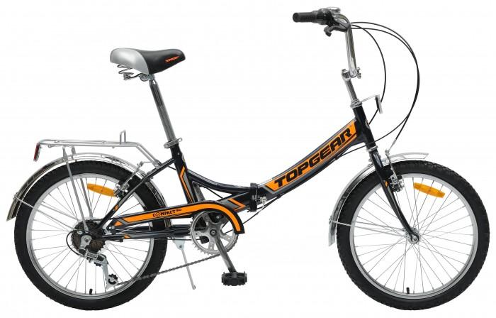 Двухколесные велосипеды TopGear складной Compact 50, 6 скоростей 20