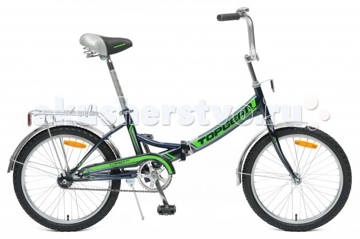 Велосипед двухколесный TopGear складной Compact 50, 1 скорость 20складной Compact 50, 1 скорость 20Двухколесный велосипед Topgear складной Compact 50, 1 скорость 20 подарит радость вашему ребенку.   Особенности:  Рама (материал): Сталь Рама (ростовка): 12,6 Дюйм колеса: 20 Рама (тип): Складная Обода: Сталь Задний переключатель: Falcon MR22 Количество скоростей: 1 Манетки: Falcon ML-G56; FULL INDEX Вилка (материал/тип): Сталь/Жесткая Тормоз (тип/материал): Ножной Звездочка/Трещетка: DACHANG Вес: 16,5 кг<br>