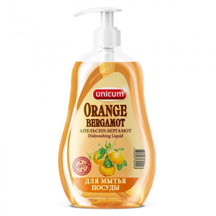 Бытовая химия Unicum Средство для мытья посуды Апельсин-бергамот 550 мл unicum спрей для мытья элементов люстр 500 мл