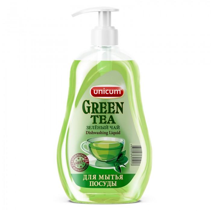 Бытовая химия Unicum Средство для мытья посуды Зелёный чай 550 мл бальзам для мытья посуды зеленый чай frosch 0 5 л