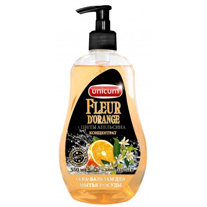 Бытовая химия Unicum Средство для мытья посуды Цветы апельсина 550 мл unicum спрей для мытья элементов люстр 500 мл