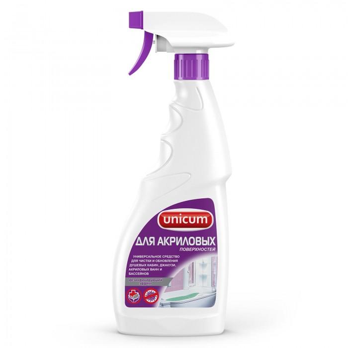 Бытовая химия Unicum Средство для чистки акриловых ванн и душевых кабин 500 мл спрей для чистки свч topperr 500 мл