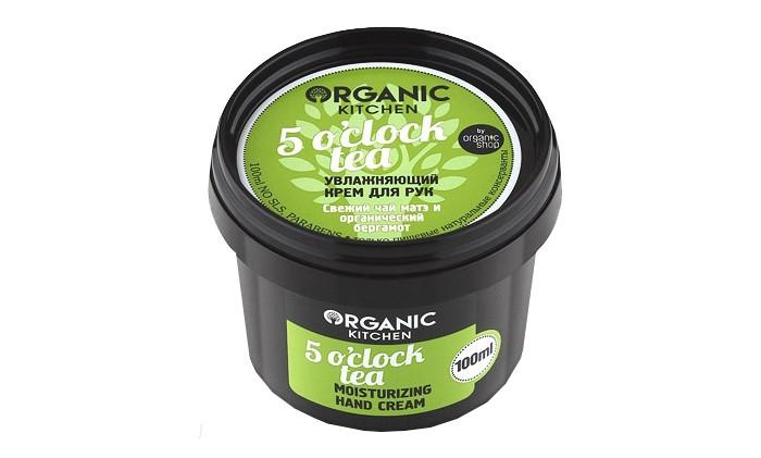 Картинка для Косметика для мамы Organic shop Organic kitchen Крем для рук увлажняющий 5 oclock tea 100 мл