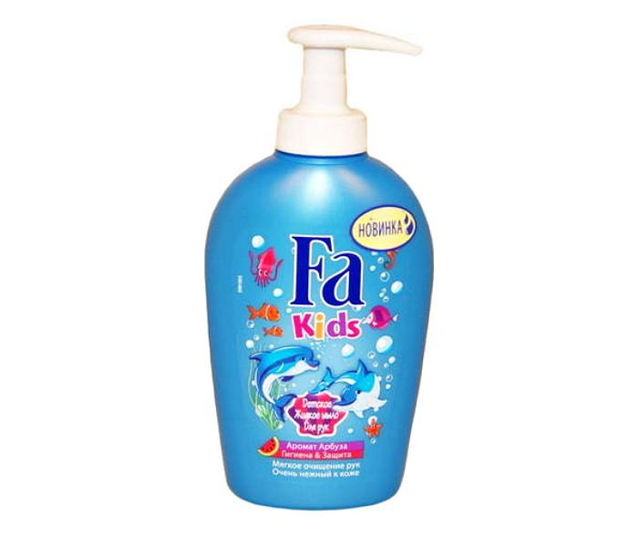 купить Детская косметика Fa Детское жидкое мыло Гигиена & защита Аромат Арбуза 250 мл по цене 150 рублей