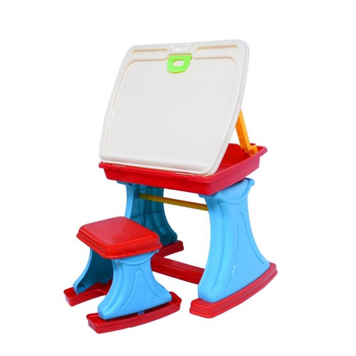 Пластиковая мебель Xiong Cheng Игровой набор столик для творчества с табуреткой игровой набор xiong cheng большая стирка 008 92