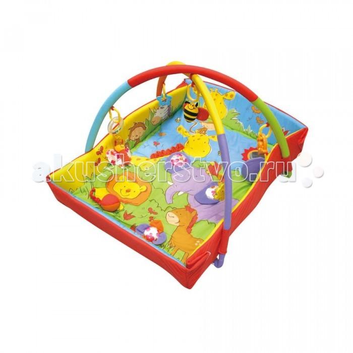 Развивающий коврик Calida В зоопаркеВ зоопаркеCalida Развивающий коврик Calida в зоопарке порадует вашего малыша яркими цветами, приятными материалами и множеством интересных деталей. Этот веселый коврик помогает развить у карапуза зрительное восприятие, тактильные ощущения и даже различные физические навыки: пытаясь достать игрушки, малыш развивает все группы мышц, учится вставать и сидеть.   Особенности: Развивающий коврик прямоугольной формы Изготовлен из мягкой велюровой ткани Мягкие бортики Яркие цвета и красочные картинки Игрушки-погремушки на дугах Тканевые детали легко стирать  Возраст: 0+ Размер: 78 х 66 х 52 см<br>