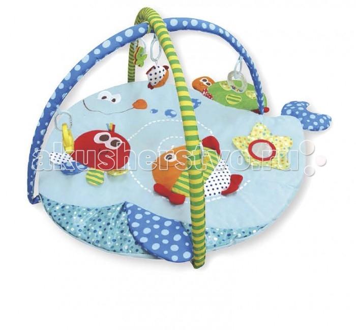 Развивающий коврик Calida Морские друзьяМорские друзьяCalida Развивающий коврик Calida Морские друзья порадует вашего малыша яркими цветами, приятными материалами и множеством интересных деталей. Этот веселый коврик помогает развить у карапуза зрительное восприятие, тактильные ощущения и даже различные физические навыки: пытаясь достать игрушки, малыш развивает все группы мышц, учится вставать и сидеть.   Особенности: Изготовлен из мягкой набивной ткани Коврик в форме рыбки Яркие цвета и красочные картинки Игрушки-погремушки Множество занимательных элементов Все тканевые детали можно стирать Компактен для хранения и транспортировки  Возраст: 0+ Размер: 110 х 85 х 48 см<br>