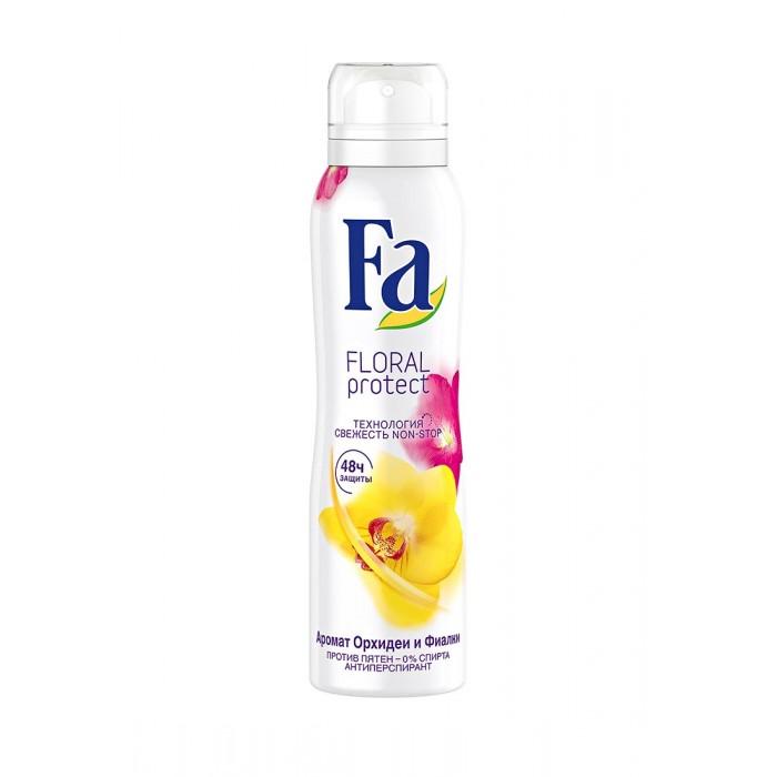 Косметика для мамы Fa Дезодорант-антиперспирант аэрозоль Floral Protect Орхидея & Фиалка 150 мл дезодорант ролл 48 часов для женщин lavilin 65 мл hlavin