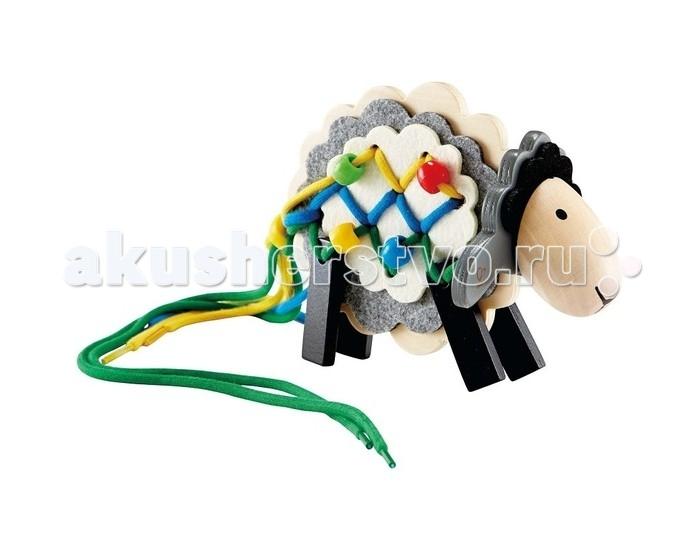 Деревянные игрушки Hape Шнуровка Овечка игрушка hape овечка е1049
