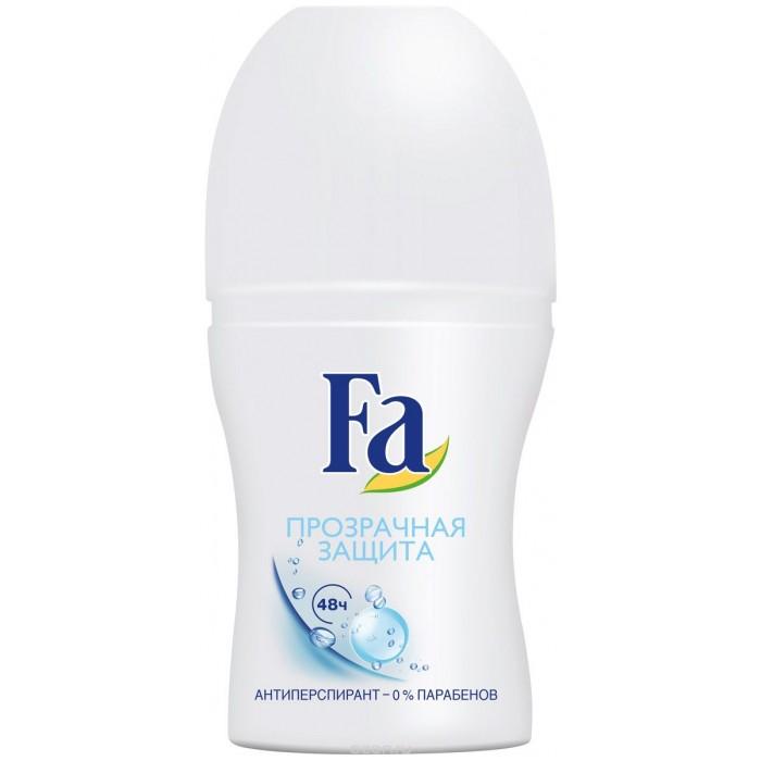 Косметика для мамы Fa Дезодорант-антиперспирант роликовый Прозрачная защита 50 мл дезодорант стик 48 часов спортивный lavilin 60 мл hlavin