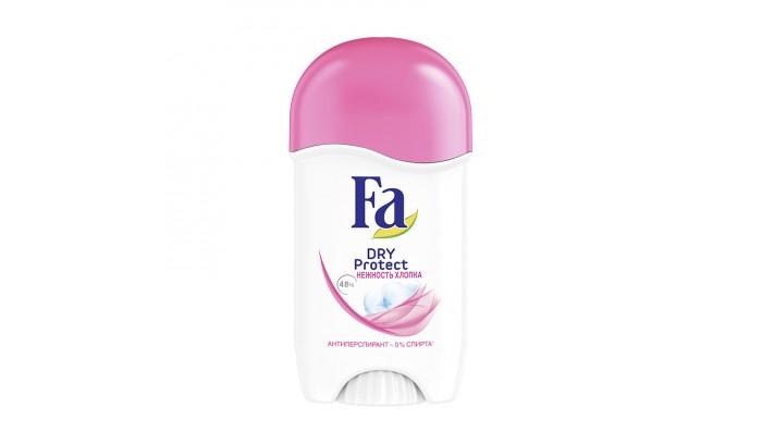 Косметика для мамы Fa Дезодорант-антиперспирант стик Dry Protect Нежность хлопка 50 мл дезодорант ролл 48 часов для женщин lavilin 65 мл hlavin