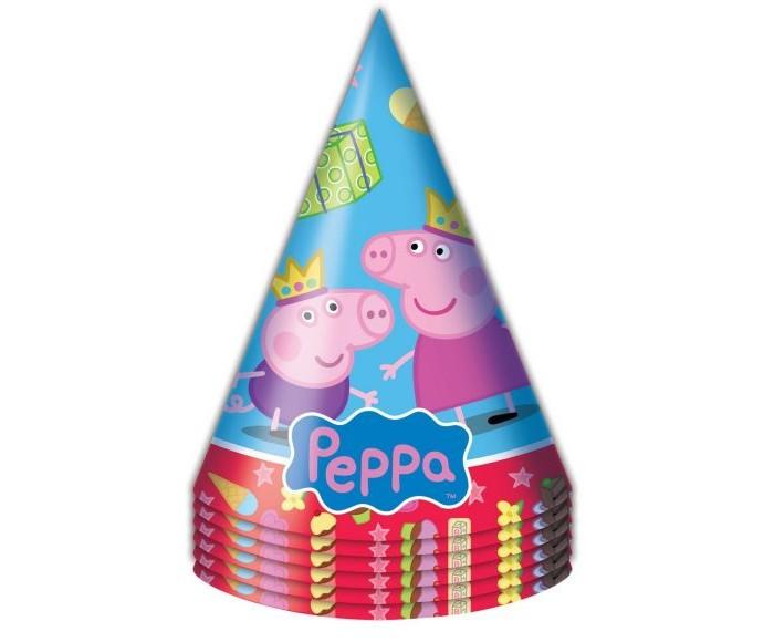 Товары для праздника Росмэн Колпачок Пеппа Принцесса 6 шт. росмэн праздничный колпак пеппа принцесса 6 шт