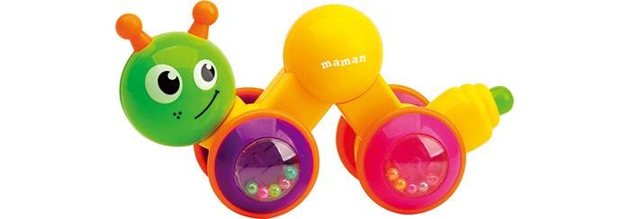 Развивающие игрушки Maman Гусеница заводная 9069 развивающая игрушка в коляску гусеница