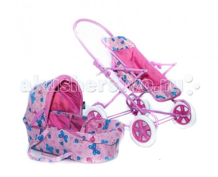 Коляска для куклы Vip Toys 9920 (9922)9920 (9922)Коляска складная, может превращаться в прогулочную коляску. В комплекте идет люлька-переноска с ремнями. Складной капюшон, в нижней части коляски - багажная корзинка для игрушек.  Коляска состоит из люльки и прогулки Рама с возможностью качать куклу Бесшумные большие не прокалываемые ПВХ колеса Высота ручки – 59 см На ручке – пластиковая накладка для удобства «мамы»  Прогулочный блок: 3-х точечный ремень безопасности Прогулку можно ставить в разные положения, регулируя наклон креплений блока к раме Прогулка из мягкой ткани без твердой подложки  Люлька: Козырек можно сложить или разложить при необходимости Ремни для переноски люльки Длина люльки – 45 см, ширина - 22 см В люльке имеется матрас<br>
