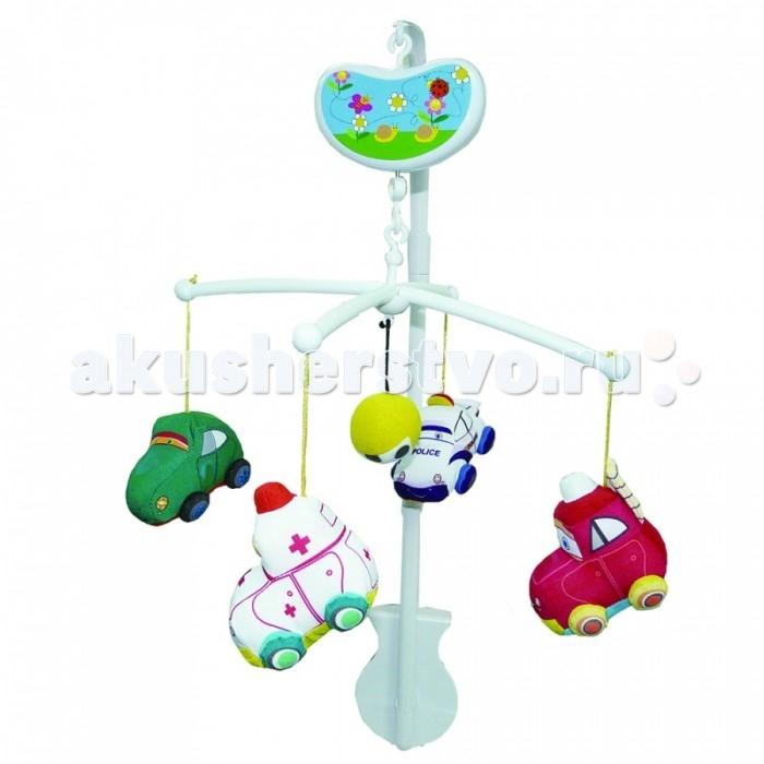 Мобили Biba Toys Музыкальный Веселые машинки