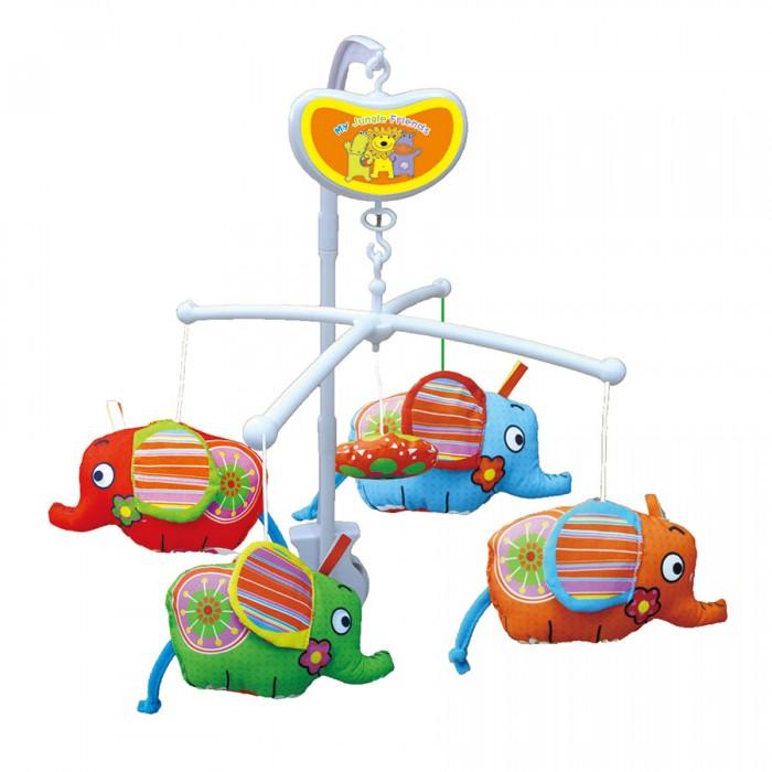 Мобили Biba Toys Музыкальный Слоники мобили biba toys музыкальный друзья бюсси