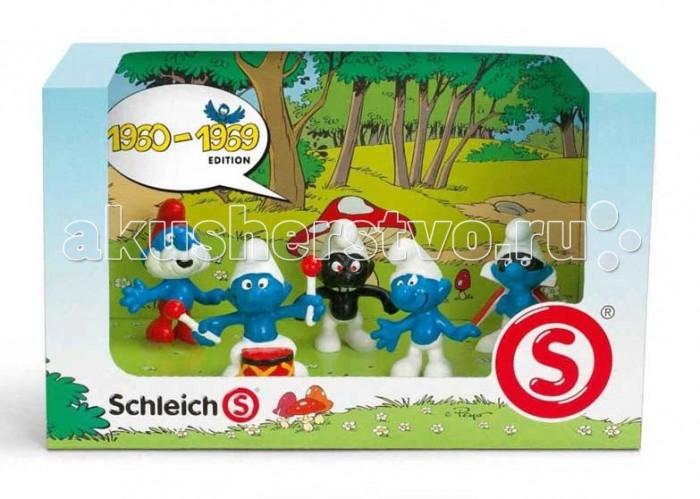 Игровые фигурки Schleich Игровая фигурка Набор Смурфов 1960-1969 schleich большой набор заводь с животными